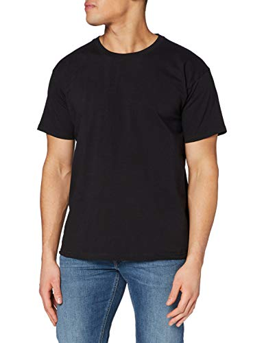Fruit of the Loom Valueweight Tee, 5 Pack T-Shirt, Noir, L (Lot de 5) Homme
