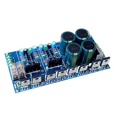 WOSOSYEYO 1pcs A4 300W + 300W Totalmente simétrica Tablero del Amplificador diferencial Doble de Alta Potencia Kit del módulo de ensamblaje de la Placa (Azul)