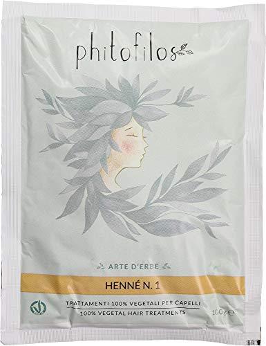 PHITOFILOS - Henné rouge N.1 - Ton cuivre doré - Lawsonia Inermis avec cassia 100% naturel - Végétalien - 100 g