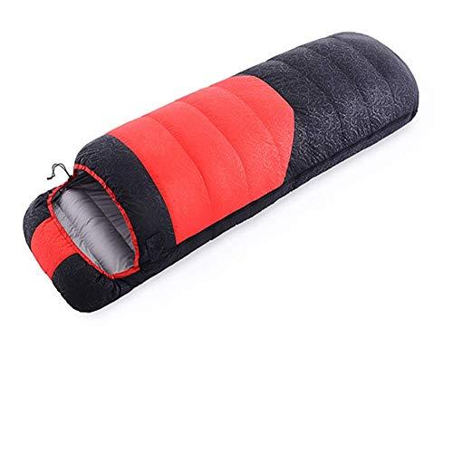 CATRP Portable Sac De Couchage en Plein Air Enveloppe Simple Couture Sac Camping Chaud Randonnée Sac De Couchage (Color : Red)