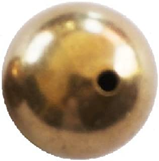 Solid Brass Round Hollow Beads (10 MM /pack Of 20) Raw Brass