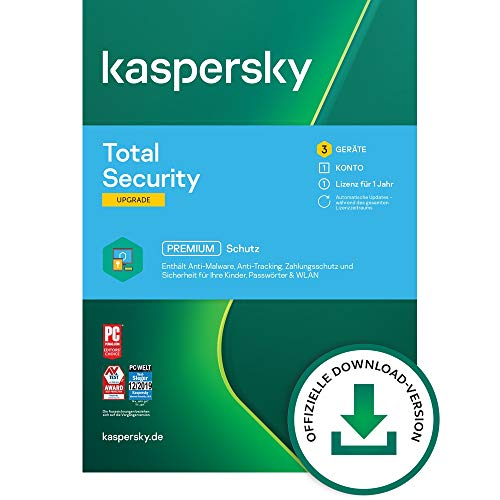 Kaspersky Total Security 2021 Upgrade | 3 Geräte | 1 Jahr |...