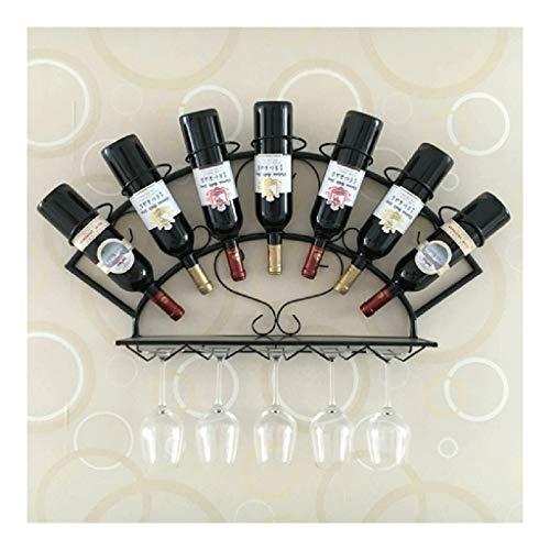 Estantería de vino Colgando del hierro estante del vino Negro / bronce / blanco de doble pared estante del vino vino rack único Asamblea fácil de ahorrar 3 colores opcionales - / estante de vino peque