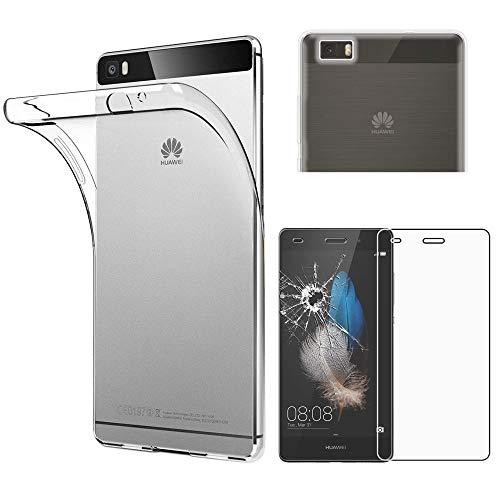 ebestStar - kompatibel mit Huawei P8 Lite Hülle Handyhülle [Ultra Dünn], Durchsichtige Klar Flex Silikon Schutzhülle, Transparent + Panzerglas Schutzfolie [P8 Lite: 143 x 70.6 x 7.7mm, 5.0'']