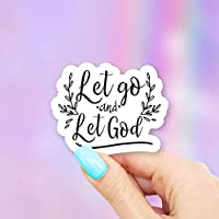 Let Go And Let God Vinyl Sticker for Laptops, Windows and Water Bottles