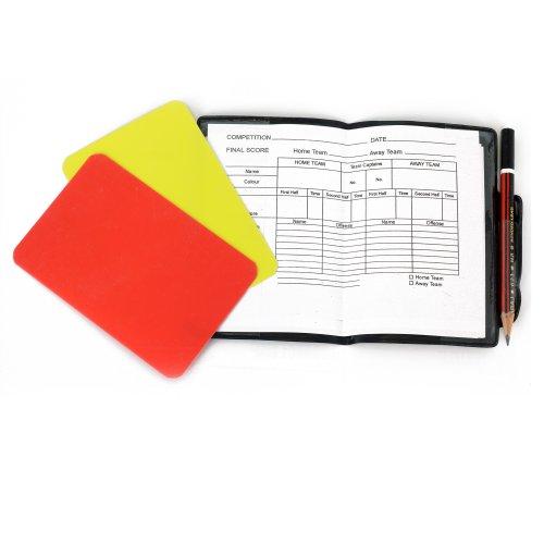 OPTIMUM Cartellini da Arbitro, Rosso e Giallo, Misura Unica