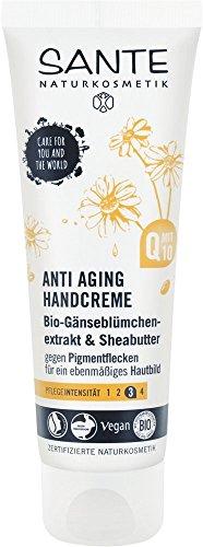SANTE Naturkosmetik Anti Aging Handcreme, Vegan, Sheabutter & Bio-Gänseblümchen, Bio-Extrakte, Natürliche Handpflege, 4x75ml Multipack