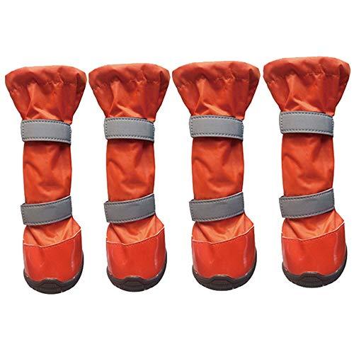 PET scarpe impermeabili cane stivali da pioggia morbido e confortevole antiscivolo senza cuciture resistente all'usura pieghevole facile da pulire per i cani di medie e grandi dimensioni giorno di