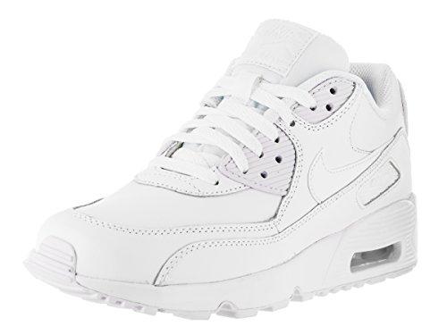 Nike Air MAX 90 Leather, Zapatillas Hombre, Blanco (White/White 100), 36 EU