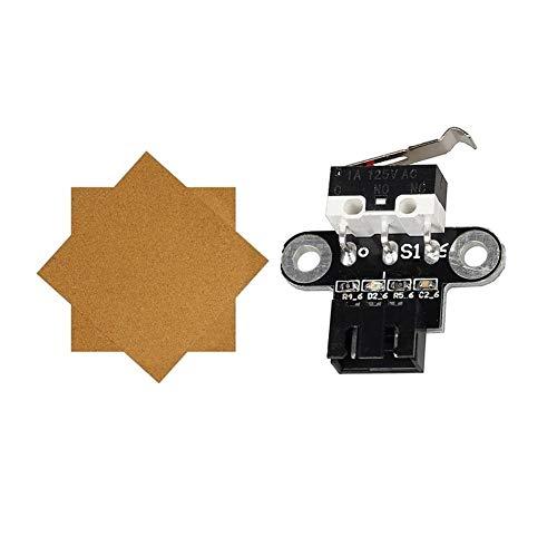 ZRNG 1PCs láminas de Corcho Climatizada Cama Placa Caliente con Cinta Adhesiva y 1Pcs Impresora 3D Interruptor Final de Carrera Piezas mecánicas Límite