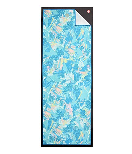 Manduka Yogitoes Yoga Towel for Mat, Non-Slip and Quick Dry for Hot Yoga with Rubber Bottom Grip Dots, 68 Inch Long