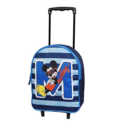 Sac à Dos à roulettes Maternelle 31 cm Disney Mickey Bleu Marine Bagtrotter