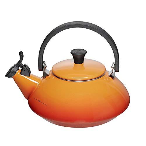 LE CREUSET Zen Tetera, Acero Inoxidable, Naranja (Volcánico), 1,6 L