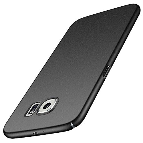 Avalri für Samsung Galaxy S6 Hülle, Ultradünne Handyhülle Hardcase aus PC Stoß- und Kratzfest Kompatibel mit Samsung Galaxy S6 (Kies Schwarz)