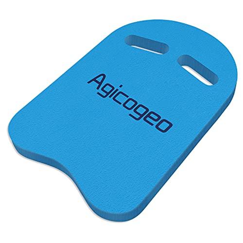 Agicogeo Swimming Kickboards, Swimming Training Equipment for Adults, Swim Pool Aid Float Kickboard for Kids and Beginner [EVA Foam] (Blue)