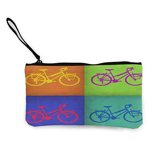 Colorido Vintage Bicicleta Mujer Cambio Monedero Bolsa Multipropósito Neceser Bolsos De La Cartera De Artesanía