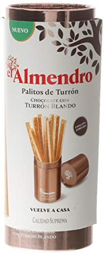El Almendro Palitos De Turrón Blando De Almendra Y Chocolate Blond - 142 gr