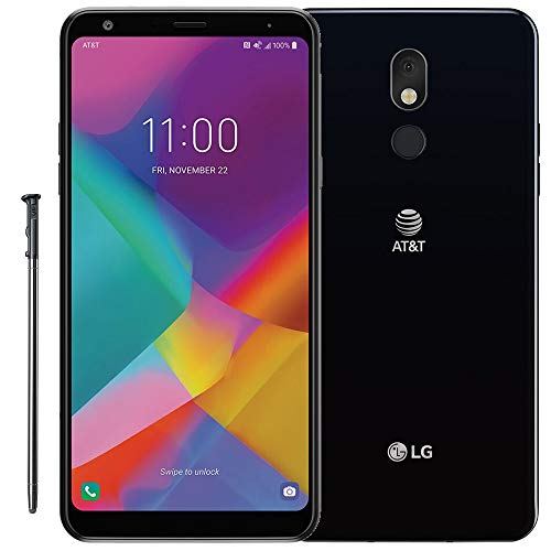 "LG Stylo 5+ Plus (32GB, 3GB RAM) 6.2"" FHD+, Snapdragon 450, 4G LTE GSM AT&T Unlocked (T-Mobile, Metro) US Warranty LM-Q720AM (Aurora Black)"