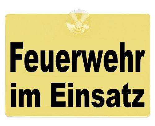 PACO Deutschland e.K. Warnschild Feuerwehr im Einsatz 20x15cm gelb