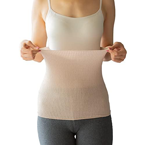 [ソワン]シルク100% 腹巻 薄手タイプ メンズ レディース 男女兼用 (ピンク, フリーサイズ)