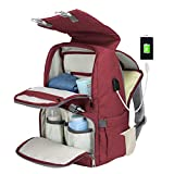 Diaper Bag Backpack,ZIRUNG Multifunction Waterproof Travel Backpack Maternity Baby Nappy Bags for Mom/Dad,Large