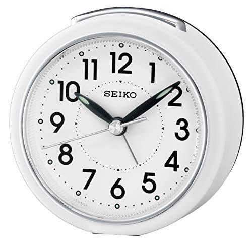 Seiko Alarm Clock Analog Weiss Ear QHE125W