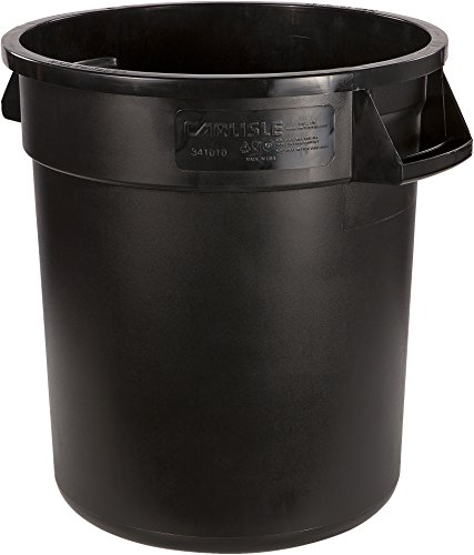 Product Image of the Carlisle 34101003 Round Waste Container, 10 gal, Black
