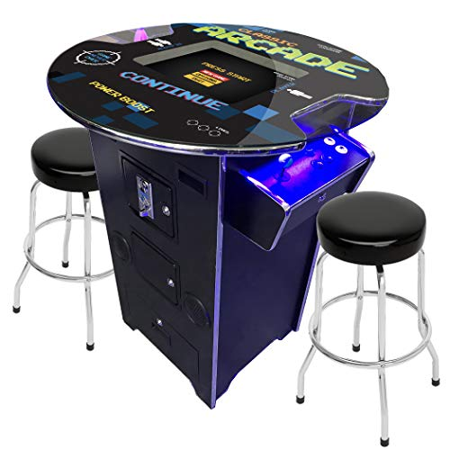 Creative Arcades Full Size Commercial Grade Pub Arcade Machine   2 Player   60 Games   22' LCD Screen   Round Glass Top   2 Sanwa Joysticks   2 Stools Included   3 Year Warranty