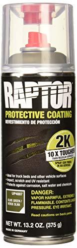 Raptor UP4887 Olive Green Bedliner 13.02 Oz 2K Aerosol, 400ml