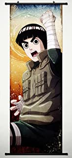 Wall Scroll Poster Fabric Painting For Anime Naruto Rock Lee