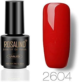 Rosalinda Gel Nail Polish Soak Off UV LED Esmalte Manicura Pedicura salón 7 ml (rojo 1)