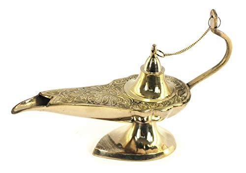 Vidal Regalos Figura Decorativa Lampara Aladin Laton 25 cm