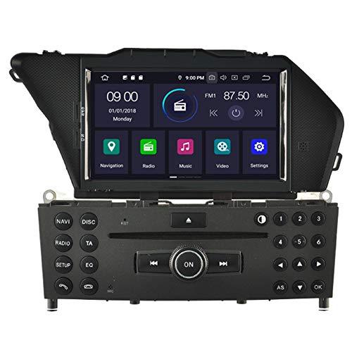 Autosion Lecteur DVD de voiture Android 10 GPS stéréo Radio multimédia Wifi pour Mercedes Benz GLK 2008 2009 2010 2011 2012 Commande au volant CarPlay filaire intégré