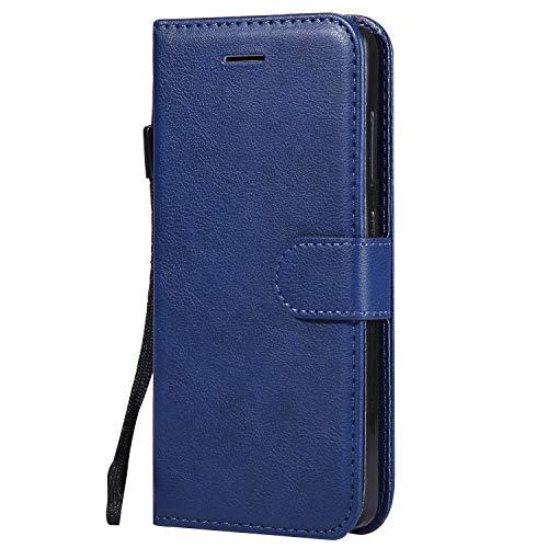 Hülle für Xiaomi Redmi 4A Hülle Handyhülle [Standfunktion] [Kartenfach] Tasche Flip Hülle Cover Etui Schutzhülle lederhülle flip case für Xiaomi Redmi 4A - DEKT051875 Blau