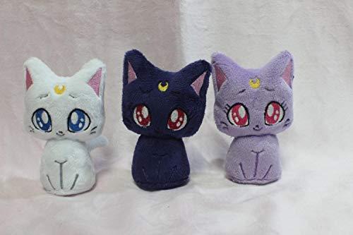 """HUBERT 4"""" Sailor Moon Kitty Plushies Luna Artemis Diana Minky Plush"""
