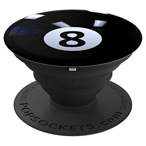 Schwarz 8 Billiardkugel - PopSockets Ausziehbarer Sockel und Griff für Smartphones und Tablets