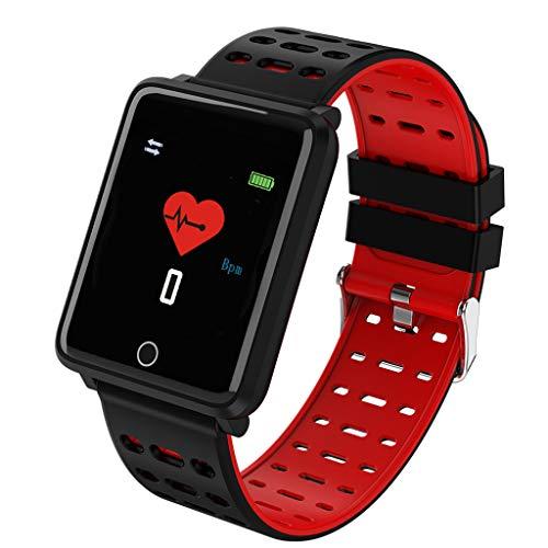 balikha 1.44'Deportes Smart Watch Fitness Tracker Pulsera Podómetro Monitor de Sueño - Rojo