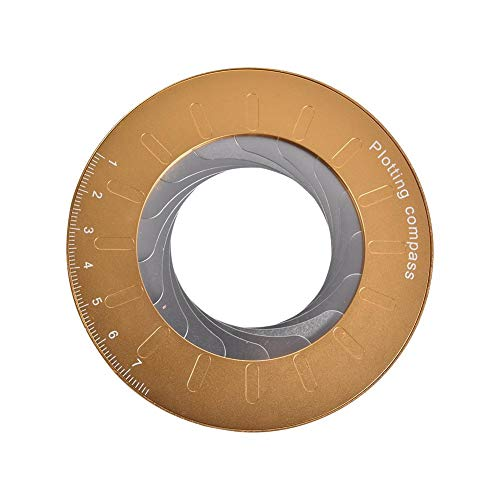 hinffinity Kreis Zeichenwerkzeug Runde Rotary Drawing Circles Lineal Einstellbare Messung Edelstahl Einstellbare Messlineal Vorlagen Tool Für Designer Woodworker - 3 PCS