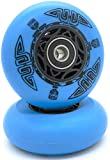 Zenhausern Trade RipStik Wheels 76mm 2 PCS, Ripsurf Wheels 90A Ripstick DLX Caster Board Replacement Wheel Set with Pre-Installed Bearings ABEC-9 (Wheels-Blue)