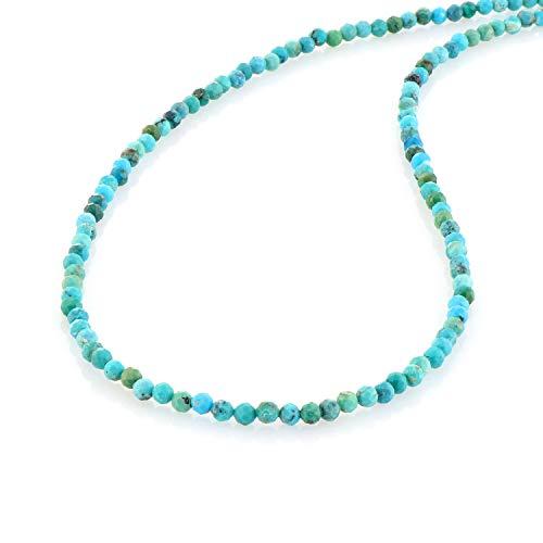 Türkisfarbene Halskette mit türkisfarbenen Perlen, Türkisschmuck, Halskette, Brautjungfer-Geschenk, Weihnachtsgeschenk für Mutter und Freundin