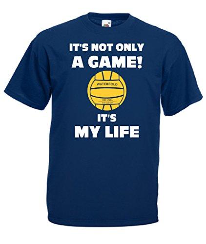 CHEIDEASTORE T-Shirt Maglietta PALLANUOTO It's My Life Sport Uomo (Large, Blu Navy)