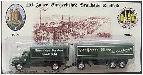 Saalfelder Brauerei Nr.17 - 110 Jahre Bürgerliches Brauhaus - Krupp Mustang - Hängerzug Oldie