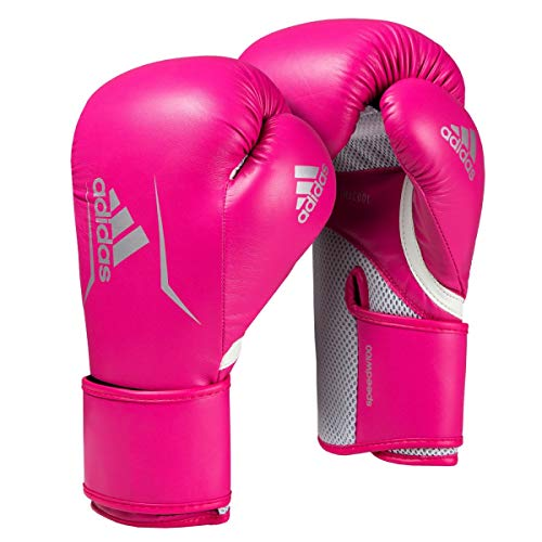 adidas Womens Speed 100 Bag Gloves, Shock Pink/White, 10 oz