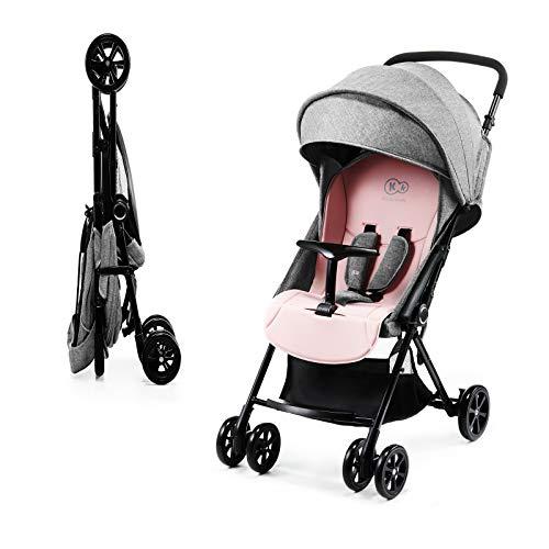 Kinderkracht kinderwagen LITE UP, ligbuggy, sportwagen, draaibare voorwielen, verstelbare handgreep, traploze instelling, grote en comfortabele buggy, snel inklappen. roze