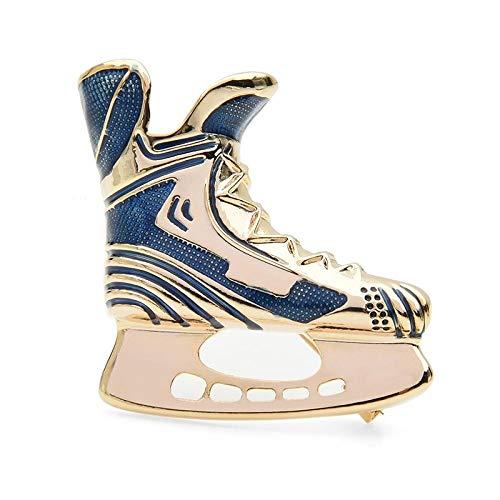 kliy Broschen Rot Blau Emaille Skates Schuhe Broschen Frauen Männer Alloy Skating Sport Casual Party Brosche Pins Geschenke-A