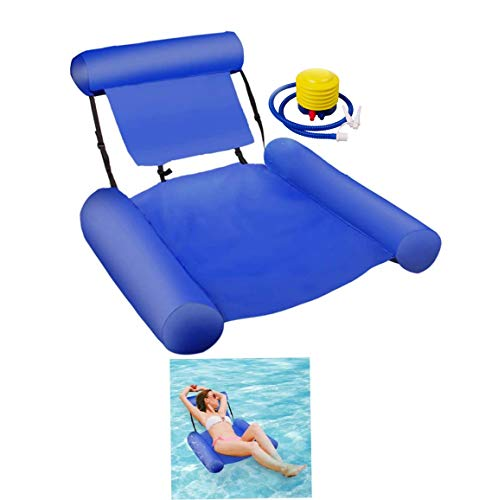 VARWANEO Inflatable Water Hammock Pool Float Bed Lounger Chair Drifter
