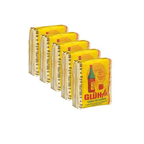 Teekanne Glühfix Glühweingewürz 5x 5er Pack