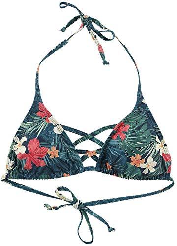 Fashion Victim Flower Bikini Oberteil Frauen Bikini-Oberteil grün XXL