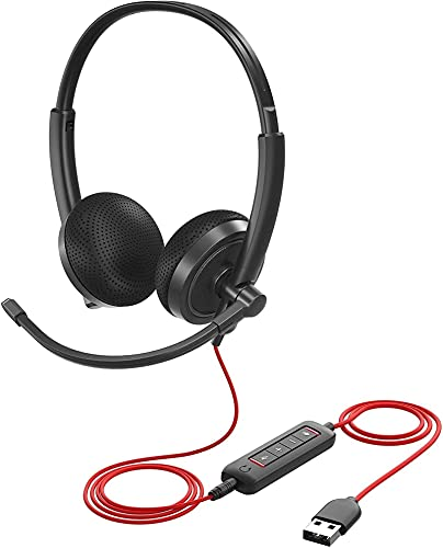 PSFYYY Auriculares de teléfono USB, auriculares de juego de computadora, auriculares de aprendizaje, auriculares con cable USB