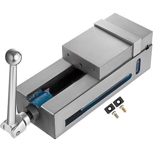 Husuper Tornillo de Banco 100mm de Ancho Visera de Fresado de Precisión Apertura de Mandíbula 120mm Prensa de Máquina de Precisión para el Acabado de Fresador, Taladradoras y Piezas de Precisión
